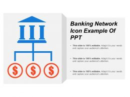 Banking Network Icon Example Of Ppt