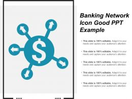 Banking Network Icon Good Ppt Example