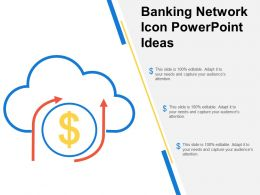 Banking Network Icon Powerpoint Ideas