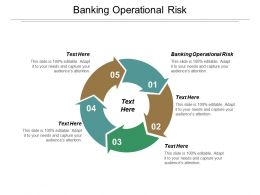 Banking Operational Risk Ppt Powerpoint Presentation Pictures Deck Cpb