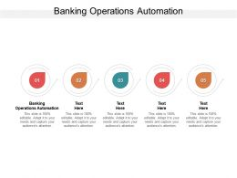 Banking Operations Automation Ppt Powerpoint Presentation Professional Clipart Cpb