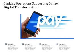 Banking Operations Supporting Online Digital Transformation