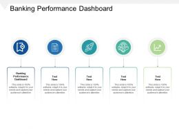 Banking Performance Dashboard Ppt Powerpoint Presentation Outline Slideshow Cpb