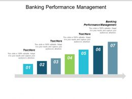 Banking Performance Management Ppt Powerpoint Presentation Infographic Template Structure Cpb