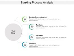 Banking Process Analysis Ppt Powerpoint Presentation Infographic Template Examples Cpb