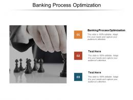 Banking Process Optimization Ppt Powerpoint Presentation Infographic Template Guidelines Cpb