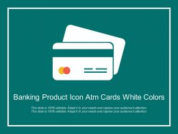 Banking Product Icon Atm Cards White Colors
