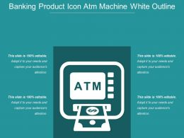Banking Product Icon Atm Machine White Outline
