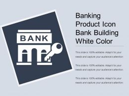 Banking Product Icon Bank Building White Color
