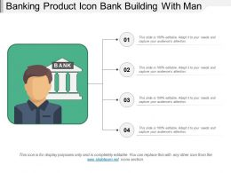 Banking Product Icon Bank Building With Man