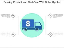 Banking Product Icon Cash Van With Dollar Symbol