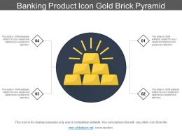 Banking Product Icon Gold Brick Pyramid