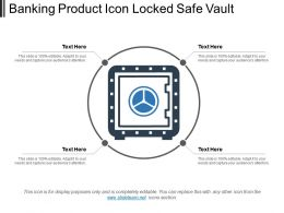 Banking Product Icon Locked Safe Vault