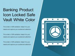 Banking Product Icon Locked Safe Vault White Color