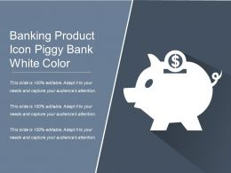 Banking Product Icon Piggy Bank White Color