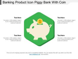Banking Product Icon Piggy Bank With Coin