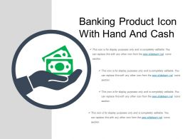 Banking Product Icon With Hand And Cash