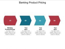 Banking Product Pricing Ppt Powerpoint Presentation Portfolio Design Ideas Cpb