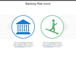 Banking Risk Icons