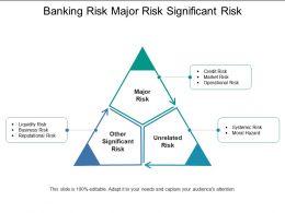 Banking Risk Major Risk Significant Risk