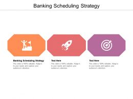 Banking Scheduling Strategy Ppt Powerpoint Presentation Outline Slideshow Cpb