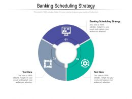 Banking Scheduling Strategy Ppt Powerpoint Presentation Pictures Examples Cpb