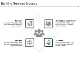 Banking Services Industry Ppt Powerpoint Presentation Gallery Clipart Images Cpb