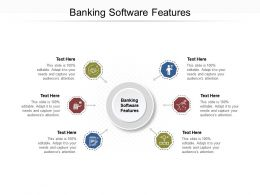 Banking Software Features Ppt Powerpoint Presentation Styles Clipart Cpb