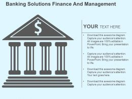 Banking Solutions Finance And Management Flat Powerpoint Design