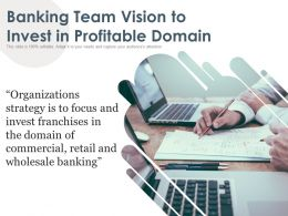 Banking Team Vision To Invest In Profitable Domain