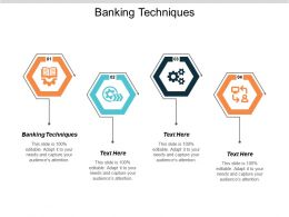 Banking Techniques Ppt Powerpoint Presentation Infographic Template Elements Cpb