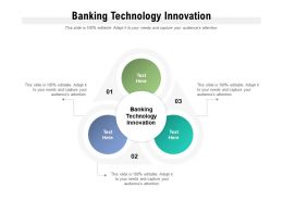 Banking Technology Innovation Ppt Powerpoint Presentation Pictures Slideshow