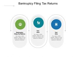 Bankruptcy Filing Tax Returns Ppt Powerpoint Presentation File Images Cpb