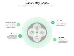 Bankruptcy Issues Ppt Powerpoint Presentation Visual Aids Show Cpb