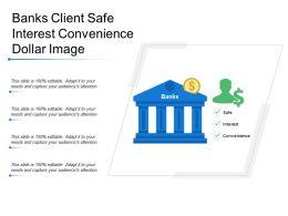Banks Client Safe Interest Convenience Dollar Image