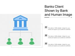 Banks Client Shown By Bank And Human Image