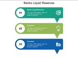 Banks Liquid Reserves Ppt Powerpoint Presentation File Example File Cpb