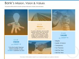Banks Mission Vision And Values M2362 Ppt Powerpoint Presentation Gallery Background Image