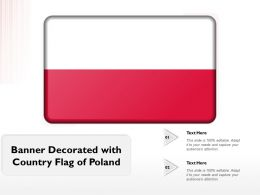Banner Decorated With Country Flag Of Poland