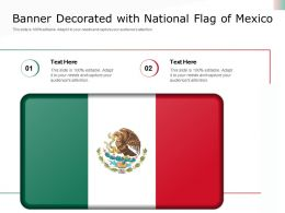Banner Decorated With National Flag Of Mexico