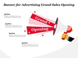 Banner For Advertising Grand Sales Opening
