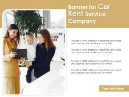 Banner For Car Rent Service Company