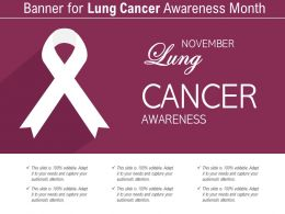 Banner For Lung Cancer Awareness Month
