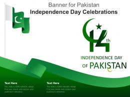 Banner For Pakistan Independence Day Celebrations