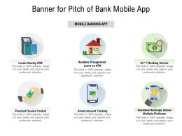 Banner For Pitch Of Bank Mobile App
