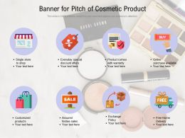 Banner For Pitch Of Cosmetic Product
