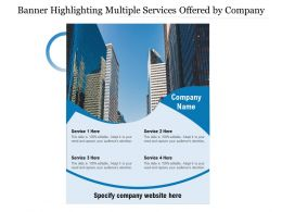 Banner Highlighting Multiple Services Offered By Company