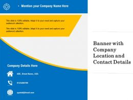 Banner With Company Location And Contact Details