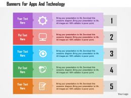 Banners For Apps And Technology Flat Powerpoint Design