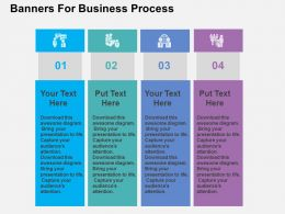 Banners For Business Process Flat PowerPoint Design